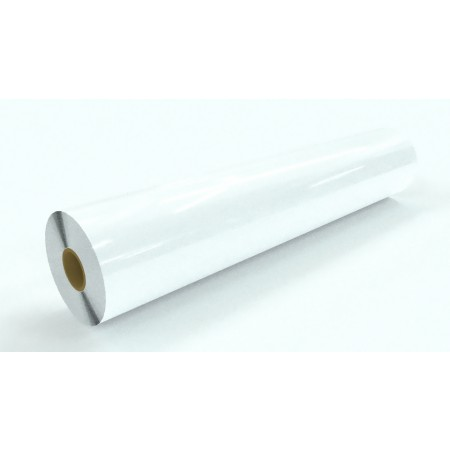 """5mil White Opaque Backer Low Melt Thermal 43""""x250'"""