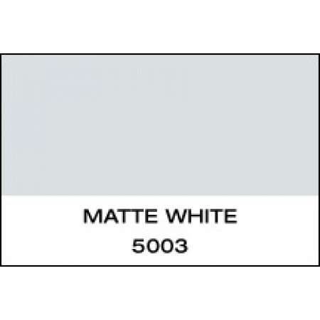 """5 Yr Vinyl Matte White 15""""x50 Yards Punched"""
