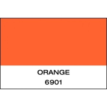 """Fluorescent Vinyl Orange 24""""x10 Yards Unpunched"""