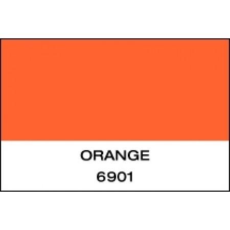 "Fluorescent Vinyl Orange 15""x50 Yards Punched"