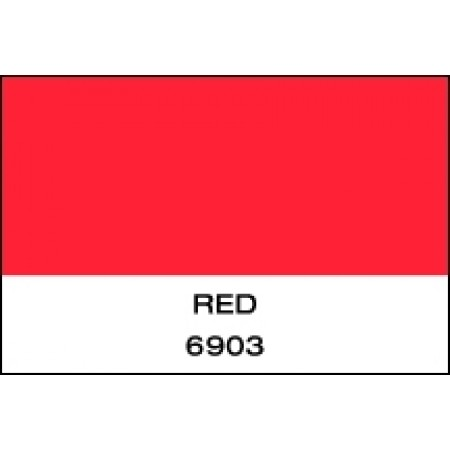 """Fluorescent Vinyl Red 15""""x50 Yards Punched"""