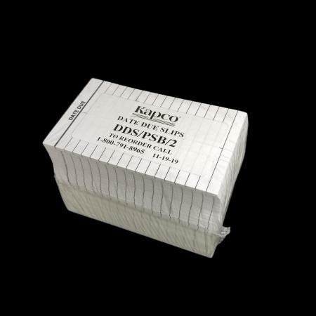 """Dtd Due Slip 2 Column 3""""x5"""" Full Back Perm Adhesive 500/pkg"""