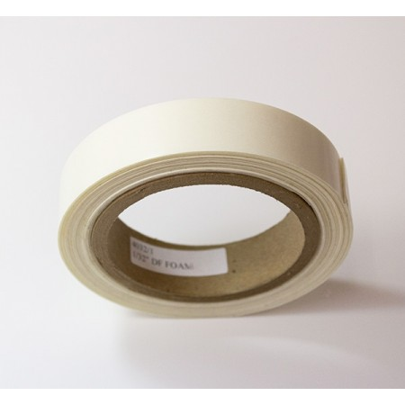 "Kapco #4032 1/32"" thick x 1/2"" wide x 216 ft White D.F. tape"