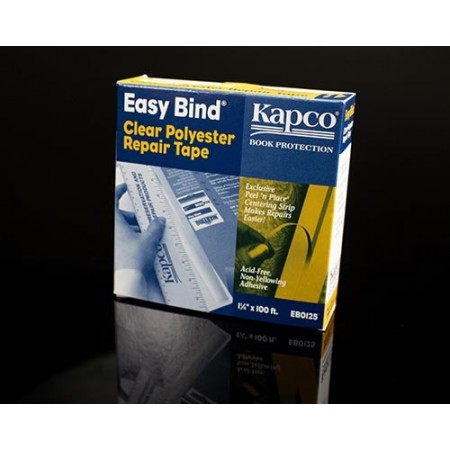 """Easy Bind 1 1/4""""x100' Matte Clear Polyester Repair Tape"""