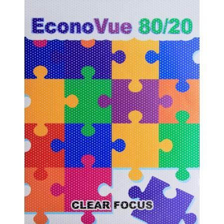 "Econovue Window Film 80/20 Perf w/solid paper liner 54""x100'"