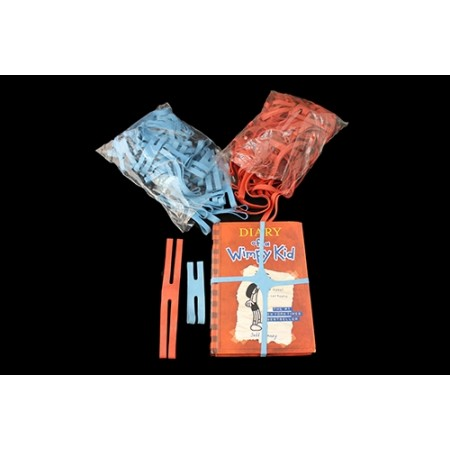 "H Binding Rubber Bands 4""x1"" Light Blue 50/box"
