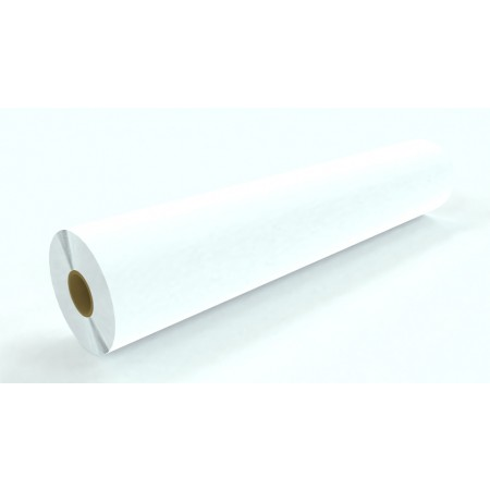 "6mil Matte White Permanent Adhesive 60""x100'"