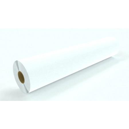 "3.5 mil Matte White Vinyl Gray Permanent Adhesive 38""x150'"